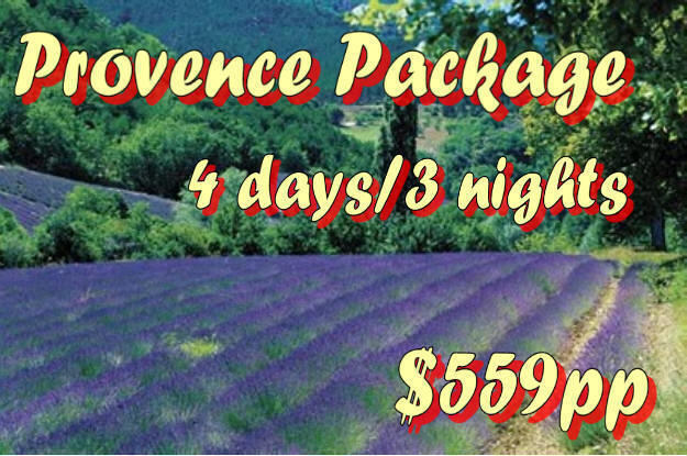 www.FilFranck.com Provence Hotel Package